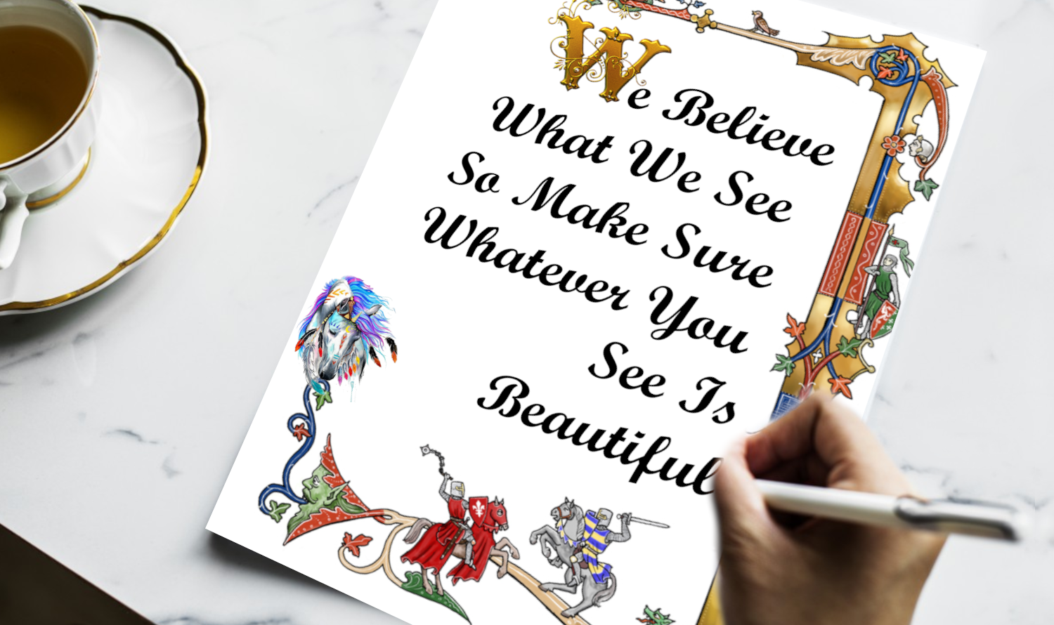 Inspirational wall art – Fill your life with beauty and watch your life change